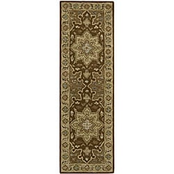 Hand-tufted Caspian Brown Wool Rug (2'3 x 7'6)