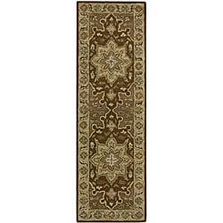 "Nourison Hand-Tufted Caspian Brown Wool Runner Rug (2'3"" x 7'6"")"