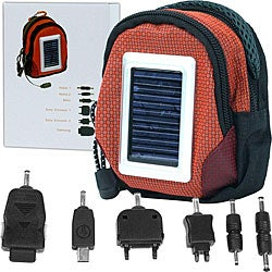 Deluxe Solar Power Cell Phone Charger Bag