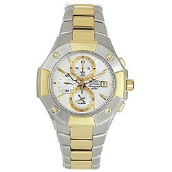 Seiko Men's 'Coutura' Alarm Chronograph Two-tone Watch