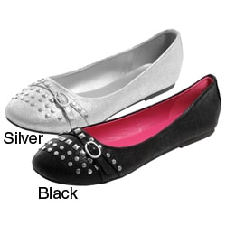 Glaze by Adi Women&#39;s Studded Ballet Flats