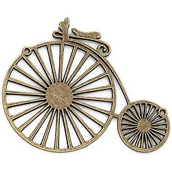 Blue Moon Tokens Antique Ox Gold 'Bicycle' Metal Charm