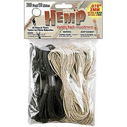 Hippie Hemp Natural and Black 300-foot Variety Pack for Stringing