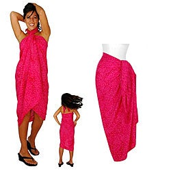 Hot Pink Floral Sarong (Indonesia)