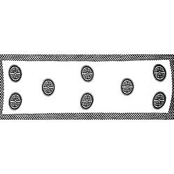 Black and White Celtic Interlace Knotwork Half Sarong (Indonesia)
