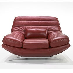 Contemporary red leather chair 12744571 for Abbyson living soho cream fabric chaise