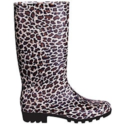 Women's Leopard Print Rubber Rain Boots (Case of 12 Pairs)