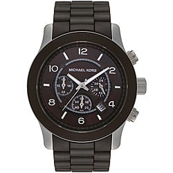 Michael Kors Men's MK8129 Chocolate Brown Polyurethane Chronograph Watch