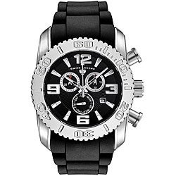 Swiss Legend Men's Steel Commander Black Dial Chronograph Watch