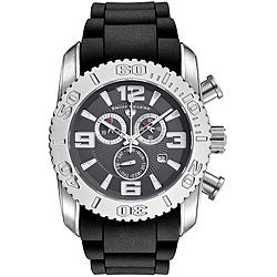 Swiss Legend Men's Steel Commander Grey Dial Chronograph Watch