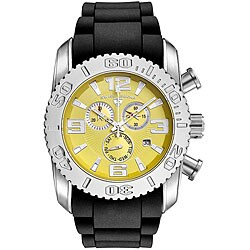 Swiss Legend Men's Steel Commander Yellow Dial Chronograph Watch