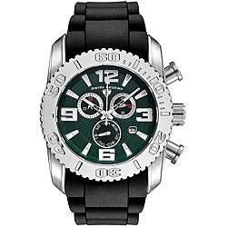 Swiss Legend Men's Steel Commander Green Dial Chronograph Watch