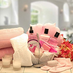 Perfect in Pink Peony Bath and Body Spa Basket