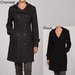 Miss Sixty Women's Hooded Long Peacoat