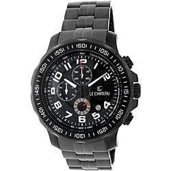 Le Chateau Men's Sport Dinamica Stainless Steel Black Chrono Watch