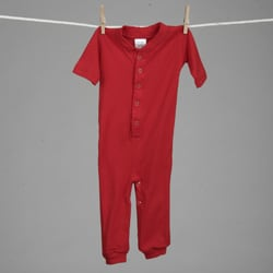 Aegean Infant Boys Red Sports Long Johns Sleeper