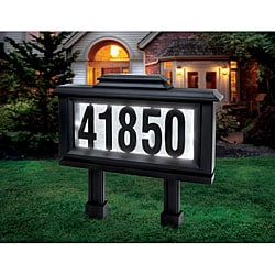Sarah Peyton Outdoor Solar LED Address Plaque