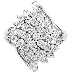 Sterling Silver 1/4ct TDW Diamond Fashion Ring (I-J, I2)