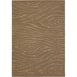 Hand-tufted Mandarae Tan Wool Rug (5' x 7'6)