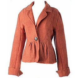 Cotton Waffle Women's Saffron Gather Jacket (Nepal)