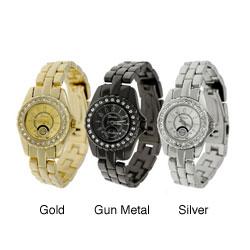 Geneva Women's Platinum Rhinestone Watch