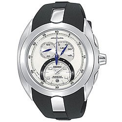 Seiko Men's Arctura Stainless Steel and Rubber Chronograph Watch
