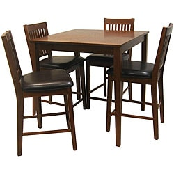 Beauville Mission 5-piece Oak Dining Room Set