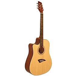 Kona Satin Left-Handed Dreadnought Acoustic Guitar