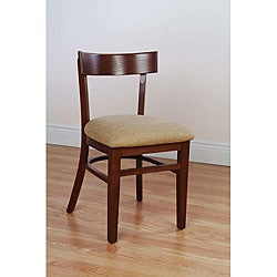 Rectangle-back Autumn Cherry Chairs (Set of 2)