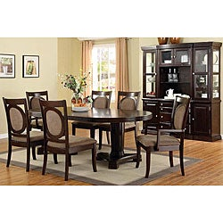 Furniture of America Vouge Taupe 7-piece Oval Table Dining Set