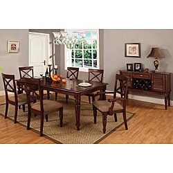 Furniture of America Le Foire Cottage-style 7-piece Dinette Set