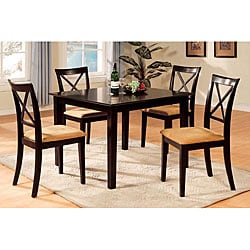 Furniture of America Lloyd Espresso 5-piece Dinette Set