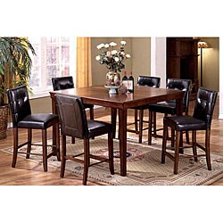of america lacona 7 piece counter height dinette set with leaf