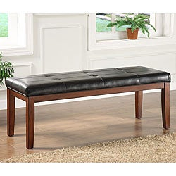 ETHAN HOME Hawthorne Faux Leather Bench