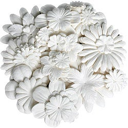 Color Me Crazy White Paper Flowers (Pack of 240)