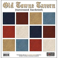 Old Towne Tavern Double-sided Distressed Cardstock Sheets (Pack of 12)