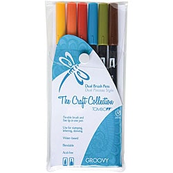 Tombow Groovy Dual Brush Pen Set (Pack of 6)