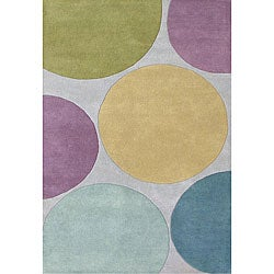 Alliyah Handmade Multicolored New Zealand Blend Wool Rug (5' x 8')