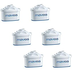 Mavea Maxtra Water Filtration Pitcher Replacement Filters (Pack of 6)