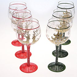 Certified International Holiday Magic Wine Glasses (Pack of 6)