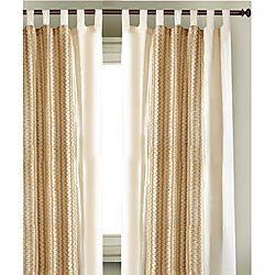 Cotton Jute Tab Top  84 in. Curtain Panel Pair