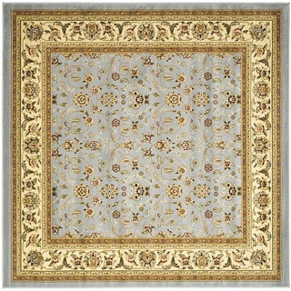 Safavieh Lyndhurst Floral Motif Greyish Blue/ Ivory Rug (8' Square)