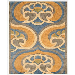 Hand-tufted Byron Abstract Wool Rug (7'9 x 9'9)