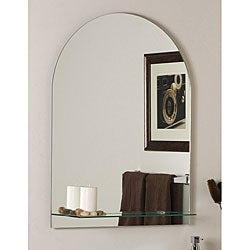 Roland Frameless Wall Mirror with Shelf