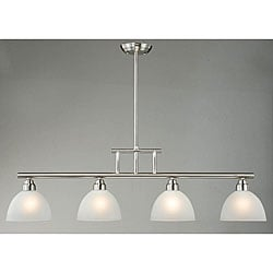 4-light Antique Nickel Island Chandelier