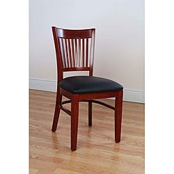 Metropolitan Mahogany Finish Side Chairs (Set of 2)