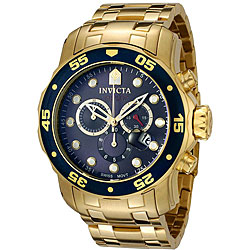 Invicta Men's Pro Diver 0073 Gold Stainless-Steel Swiss Chronograph Watch