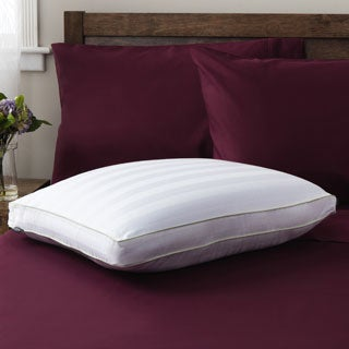 SwissLux Dual-comfort Supreme European-Style Memory Foam with Gel Fiber Pillow