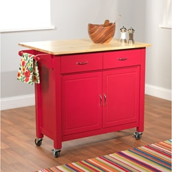 Red Mobile Kitchen Cart