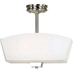 Oslo 2-light Nickel Semi-Flush